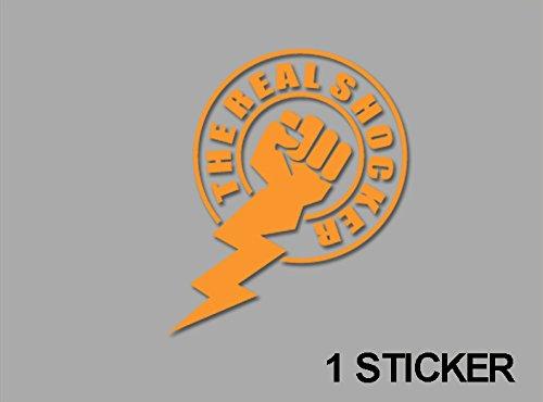 Ecoshirt 35-9BFX-Y592 Aufkleber Sticker Real Shocker Ref: Jdm54 Aufkleber Autocollants Adesivi, Orange