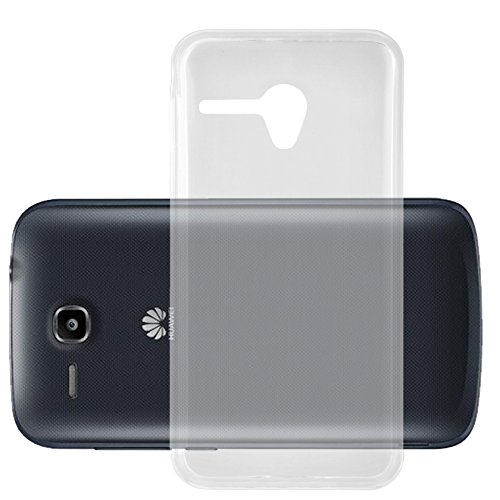 Cadorabo Hülle für Huawei Ascend Y600 in VOLL TRANSPARENT - Handyhülle aus flexiblem TPU Silikon - Silikonhülle Schutzhülle Ultra Slim Soft Back Cover Hülle Bumper