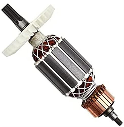 Repuesto de rotor de armadura de 220 V-230 V para Hitachi 360591E DH40MRY DH40MR DH40SR DH40FR pieza de herramienta eléctrica de martillo giratorio de vástago estriado Ajuste perfecto