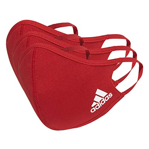 adidas Erwachsene Face Cover L - not for medical use Gesichtsbedeckung, 3er pack , power red, NS