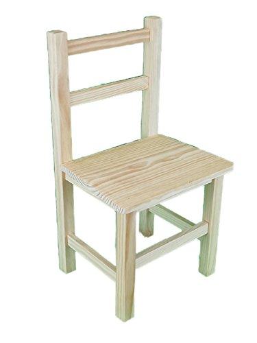 Silla infantil de madera. En crudo, para decorar. Medidas (ancho/fondo/alto): 30 * 27 * 57 cm.