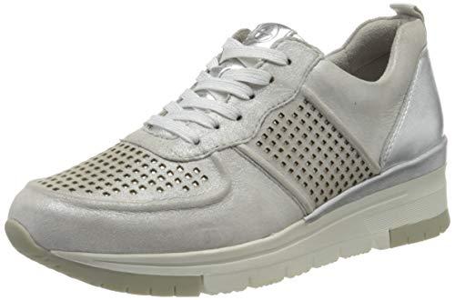 Tamaris Damen 1-1-23745-24 Sneaker, Silber (Silver/Punch 961), 36 EU