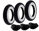 2EXTREME 3X Weißwand Reifen Schlauch Set Kenda 3.50-10 Zoll für Vespa PX 125 150 200 Ape