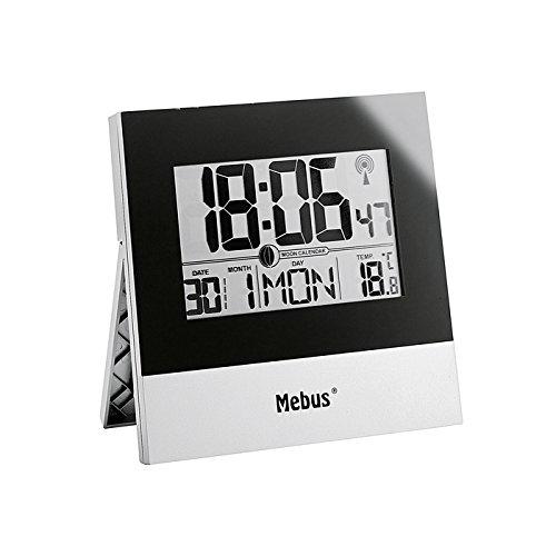 Mebus Funk-Wand/Tischuhr, digital (Kunststoff)