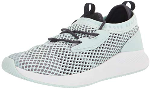Under Armour Charged Breathe SMRZD, Zapatillas para Correr Mujer, Sea Glass Azul Halo Gray Halo Gris 401, 36 EU