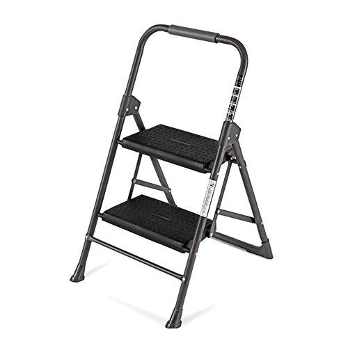 LRZLZY Schritt Hocker, 2/3 Schritt Heimklappleiter, Nicht gleitende bewegliche Fußbank Familie, Werkstatt, Garage Stabilität und Sicherheit (Size : 2-Step)