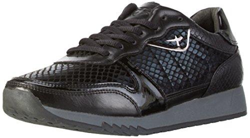 Tamaris Damen 23602 Sneaker, Schwarz (Blk/Blk Str. 069), 38 EU