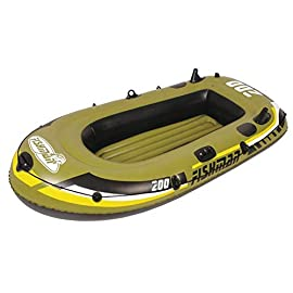 YX-ZD Water Kayak, Foldable Inflatable Fishing Boat Drifting Ship Kayak with Oars,Puncture Resistant PVC Inflatable Fishing Boat Drifting Ship Kayak 8 SAFE AND RELIABLE: Our inflatable boats are designed with different air chambers to ensure your safety. PVC thermal bonding seams provide first-class air retention and fine manufacturing processes to ensure no leaks. GOOD COMPANION: The inflatable boat is easy to use, the valve can be quickly inflated and deflated, allowing you to enjoy the leisure time on the water quickly. It is a good companion for your holiday with family and friends. GREAT QUALITY: This Inflatable boat adopts environmentally friendly PVC material, which has wear resistance, sun resistance. Heavy duty, suitable for two persons to use, load bearing is up to 350kg/771lbs. High-quality materials allow you to relax and play on the water.