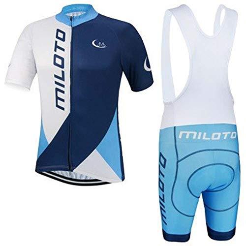 Fietsen Huid pak Zomer Outdoor Sport Blauw Korte mouwen Jersey Moisture Wicking Suit