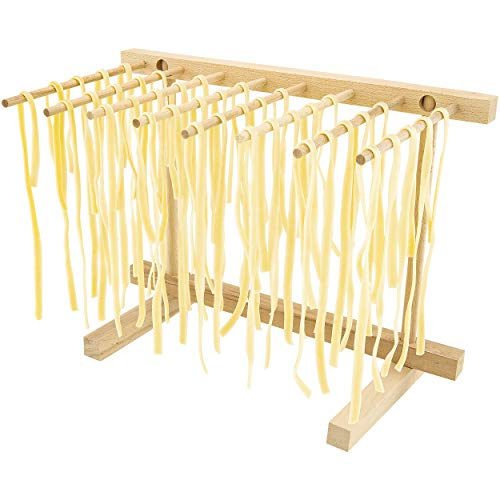 Collapsible Wooden Pasta Drying Rack, Natural Beechwood
