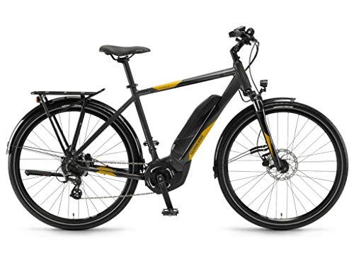 Winora E-Bike Yucatan 8 Uomo Yamaha PW-S 400Wh 28'' 8v Nero Taglia 60 2018 (City Bike Elettriche) / E-Bike Yucatan 8 Man Yamaha PW-S 400Wh 28'' 8s Black Size 60 2018 (Electric City Bike)
