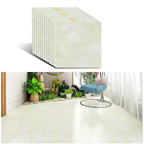 VEELIKE Vinyl Fliesen Selbstklebend Marmor Modern Fliesenaufkleber Bodenaufkleber Boden Fliesen Bordüre Fliesen Klebefolie Fliesen Sticker für Badezimmer Küche 30cm x 30cm 12 Stück