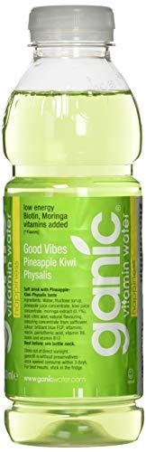 ganic Happiness Kiwi Vitamin Wasser, Ananas, 500 ml (12er Pack)