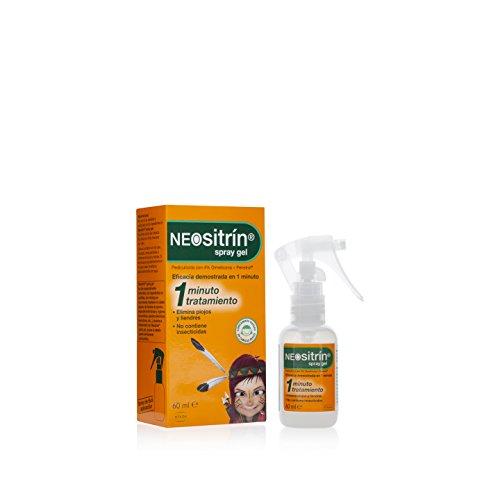 Neositrín Spray Gel Tratamiento para Eliminar Piojos y Liendres en 1 Minuto -60ml