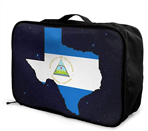 Bolsa de Viaje Grande con diseño de Mapa de Texas de Nicaragua