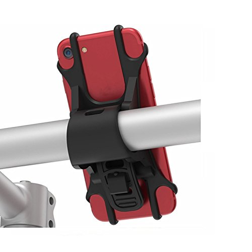 Skitior Soporte de teléfono para Bicicleta, Manillar de Motocicleta Universal Ajustable para iPhone XS/XS MAX/XR/X/8 Plus/8/7 Plus, Galaxy S8 Plus, Nexus, Nokia, LG