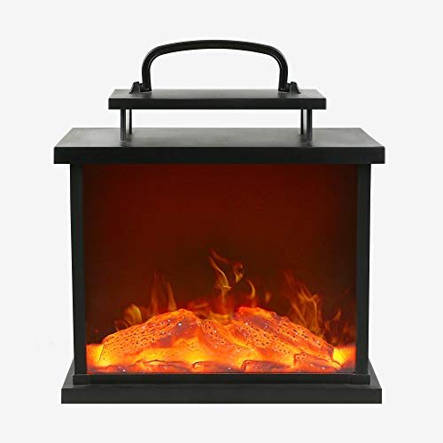 HN HAIINAA Electric Fireplace Heaters for Indoor Use,Portable Mini Fireplace with Battery Operated,Fake Cardboard Fireplace,Tabletop Fireplace for The Living Room