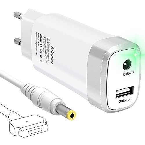 Mac Book Pro Ladegerät 60W, Mini Ersatz Magnetische 2 T-Spitze Power Adapterladegerät, Tragbares Netzteil kompatibel mit Mac Book Pro Ladegerät mit 13-Zoll Retina Display (ab Ende 2012)