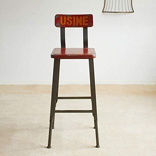 YINGGEXU Silla de comedor, taburete de bar, rústico, industrial, con respaldo para mostrador, cocina, personalidad, bar, silla (color: marrón, tamaño: tamaño libre)