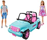 Barbie- Playset with Off-Road Vehicle and Doll, and Ken in Clothes and Accessories, 3+ Years, GHT35