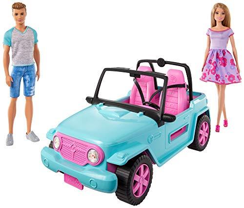 Barbie GHT35 Beach Jeep, Ken-Puppe, mit Moden und Zubehör, Auto, Fahrzeug, Spielzeug ab 3 Jahren