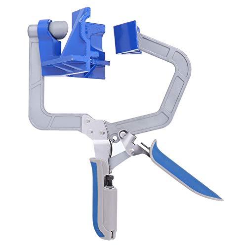 Abrazadera de carpintería azul, con acero inoxidable 420 y plástico, 23 x 13,5 x 11 cm, abrazadera de ángulo recto para conector de ángulo de 90 °/en forma de T