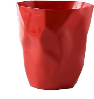 Prettyia Creative Irregular Trash Can Plastic Wastebasket Dustbin Home Office Car - Red Large