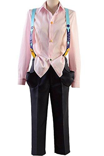 Ya-cos Cosplay Shirt Suspender Rei/Juuzou/Juzo Suzuya Costume Full Set Attire Outfit Pink
