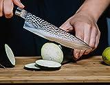 DALSTEIN® Damastmesser | Extrem scharfes, Japanisches Profi Küchenmesser für mehr Freude beim Kochen | Kochmesser Inklusive Zubehör und Garantie! - 6
