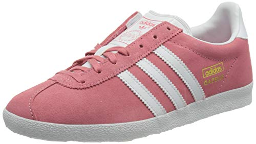adidas Gazelle OG, Sneaker Mujer, Hazy Rose/Footwear White/Gold Metallic, 37 1/3 EU