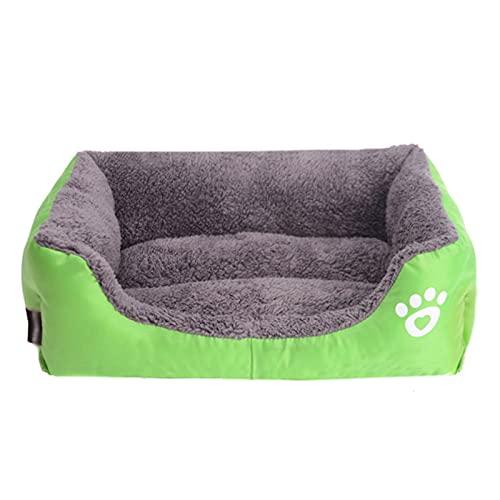 Cama Para Perros Cama Para Mascotas De Color Caramelo Cama De Lana Suave Lavable Para Perros Y Gatos Cama Inferior Antideslizante Para Mascotas Cojín Para Sofá Para Perros O Gatos,Verde,S