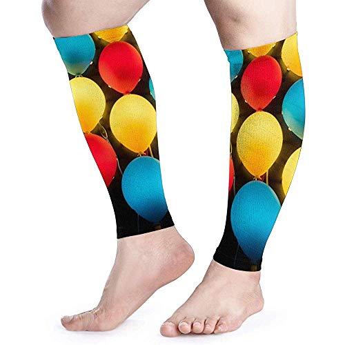 Kleurrijke Ballonnen Licht Kalf Compressie Mouw Mannen Womens Hardlopen Been Mouw voor Shin Splint Spier Pijn Relief