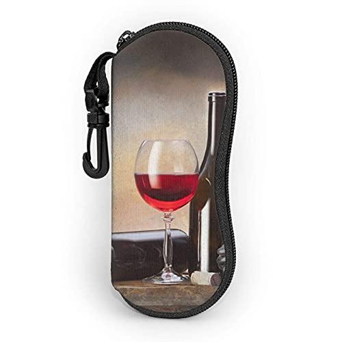 AOOEDM Estuche blando para gafas de sol de vino de uva Estuche para gafas para mujeres Hombres Estuche para gafas con cremallera de neopreno ultraligero
