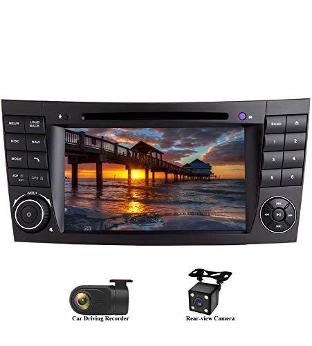 XISEDO Android 8.0 Autoradio In-Dash 2 DIN 7' Radio de Coche 8-Core RAM 4G ROM 32G Car Radio Estéreo Navegación de Automóvil con Reproductor De DVD para Mercedes-Benz E-W211/E200/E220/E240/E270/E280
