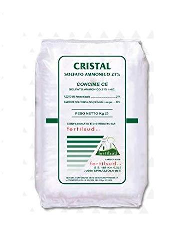 acquaverde Solfato Ammonico 21% Cristal 25 kg Concime Azotato Idrosolubile Azoto Fertilizzante