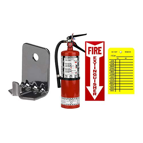 ABC Fire Extinguisher 5Lb Buckeye Type ABC Dry Chemical Fire Extinguisher with Wall Hook, Sign and Inspection Tag