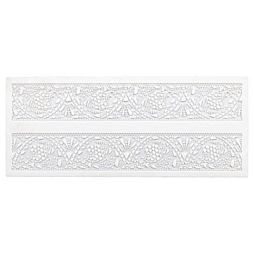 Städter Jugendstil Bordüren- Matte, Silikon, Weiß, 39,5 x 16,5 cm
