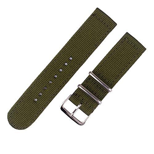 DANGAO Strap de Reloj de liberación rápida para Hombres Mujeres Premium Nylon Nylon Watch Band con Hebilla Inoxidable Negra (Band Color : 15, Band Width : 24mm)
