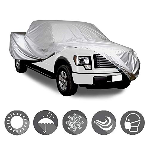 LT Sport Multi-Layer Pickup Truck Cover Rain Resistant Soft Cotton Inlay 8'Bed Car Cover