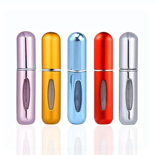 CLKJCAR 5pcs 8 ml atomizador de perfume de botella vacío pulverizador del perfume de atomizadores recargable dosificador de perfume spray frasco para viaje viajes aéreos