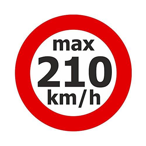 Adhesivo de velocidad máx. 200 km/h.