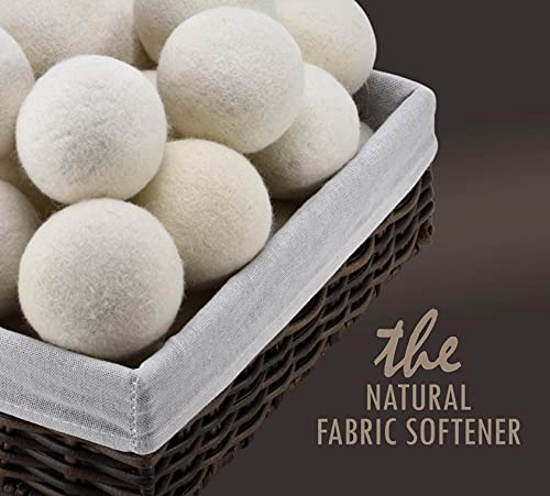 Wool Dryer Balls - Natural Fabric Softener, Reusable, Reduces Clothing...