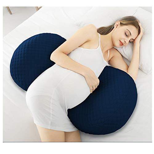 Four Seasons Universal Mujeres Embarazadas Almohada Algodón Extraíble y Lavable Multifuncional Lateral de la Cintura Estomago para Dormir Productos de Soporte 3 Color 45 * 20 * 80cm CHENGYI