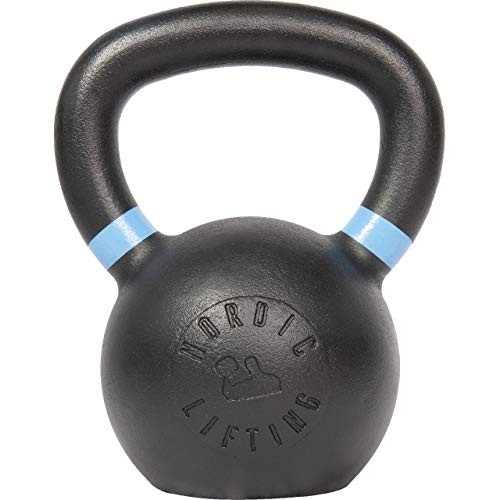 Nordic Lifting Kettlebell Made for Crossfit & Gym Workouts - Real Cast Iron for Strength Training 26 lb