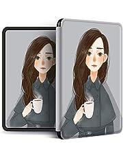 zzzddd Etui do Kindle 2019 10Th generacji/2018 Paperwhite 4, ilustracja pary ultracienki magnetyczny inteligentny miękki silikonowy pokrowiec ochronny z automatycznym budzeniem/uśpieniem, szara dziewczyna, do Kindle Paperwhite 4