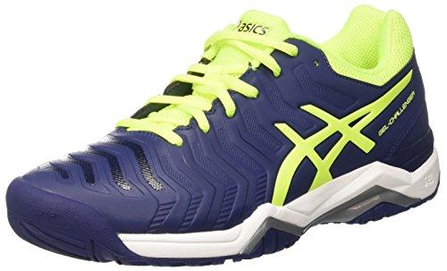Asics ASICS Herren Gel-Challenger 11 Tennisschuhe, Blau (Indigo Blue/Safety Yellow/Silver), 45 EU