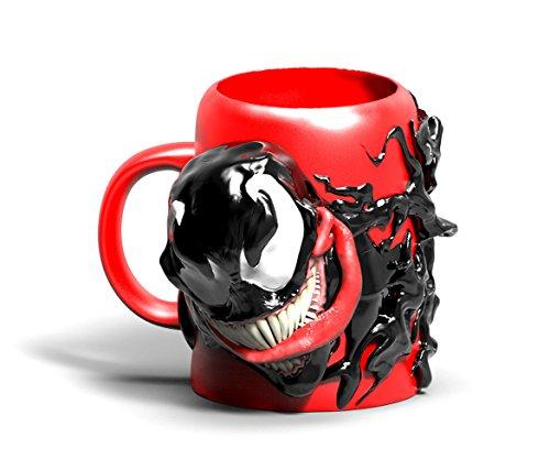 Surreal Entertainment Marvel Venom 3-D Ceramic Sculpted Mug, 24 Ounces