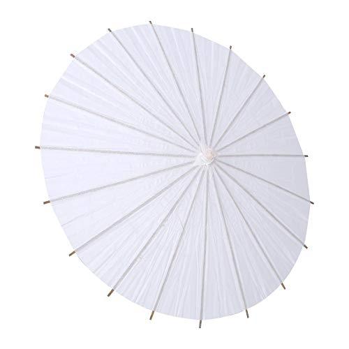 Zerodis Papier Regenschirm Sonnenschirm Tanz Fotografie Kunst Zubehör Party Dekoration Weiß(Halbmesser20cm)