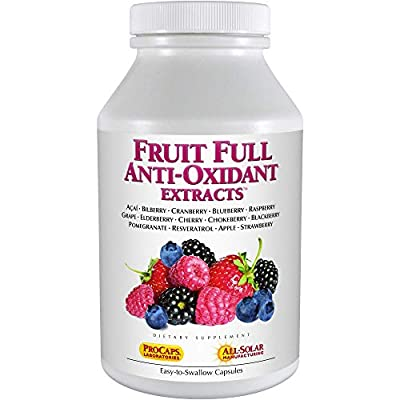 Andrew Lessman Fruit Full Anti-Oxidant Extracts 60 Capsules - 14 Natural Fruit and Berry Extracts. Bilberry, Cranberry, Grape Seed, Pomegranate, Resveratrol, and More. Easy to Swallow Capsules