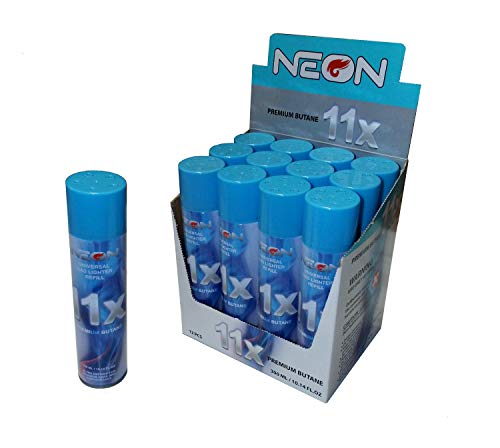 neon 12 Cans of Neon 11x Ultra Refined Butane Fuel